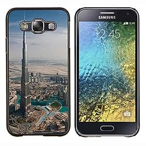 LECELL--Funda protectora / Cubierta / Piel For Samsung Galaxy E5 E500 -- Arquitectura Burj Dubai el edificio más alto de Dubai --
