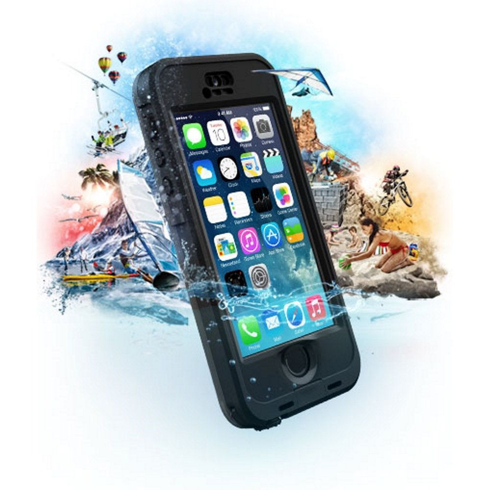 LifeProof NÜÜD SERIES Waterproof Case for iPhone 5/5s/SE - Retail Packaging - BLACK (BLACK/SMOKE) by LifeProof (Image #9)