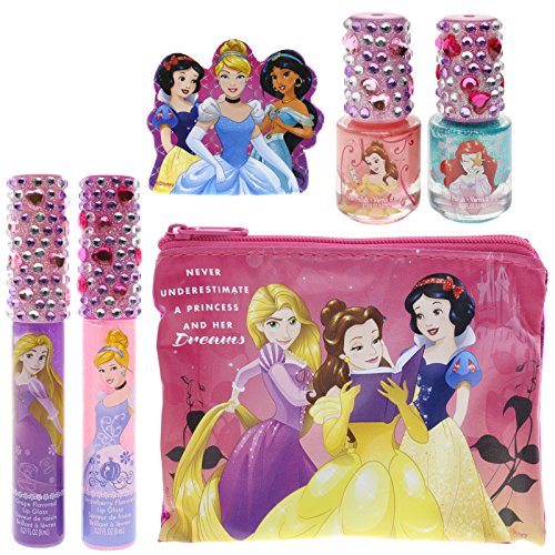 TownleyGirl Disney Princess Sparkly Lip Gloss and Nail Polis