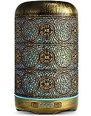 SALKING Aroma diffuser, metalen ultrasone aromatherapie diffuser voor etherische oliën