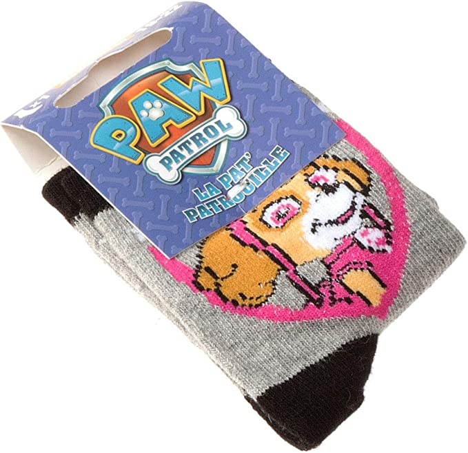 Rayures Paw Patrol Nickelodeon 1 paire Chaussette Niveau mollet Coton Sans bouclette