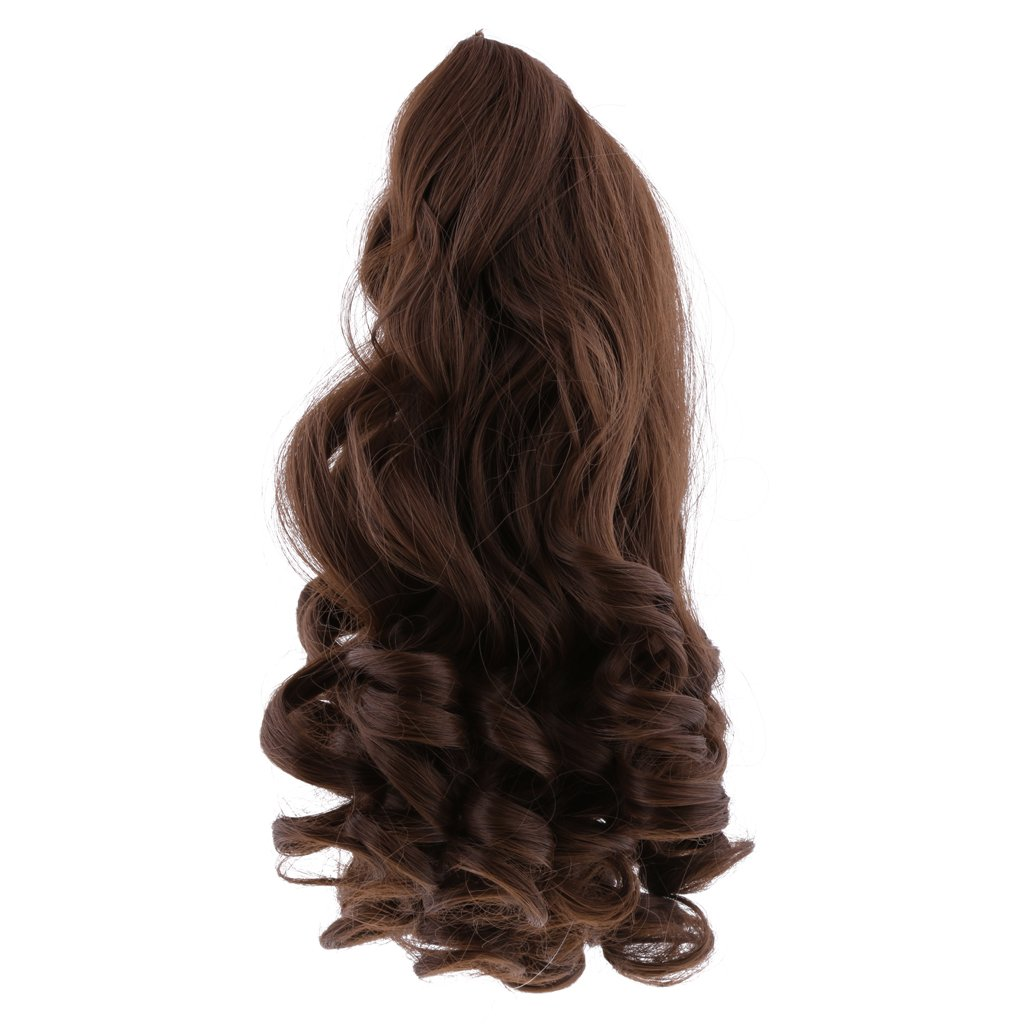 Beige Baoblaze 8 Colors 27cm Elegant Long Wavy Curly Hair Hairpiece for 18inch American Doll Dolls Wig DIY Making /& Repairs Accessory
