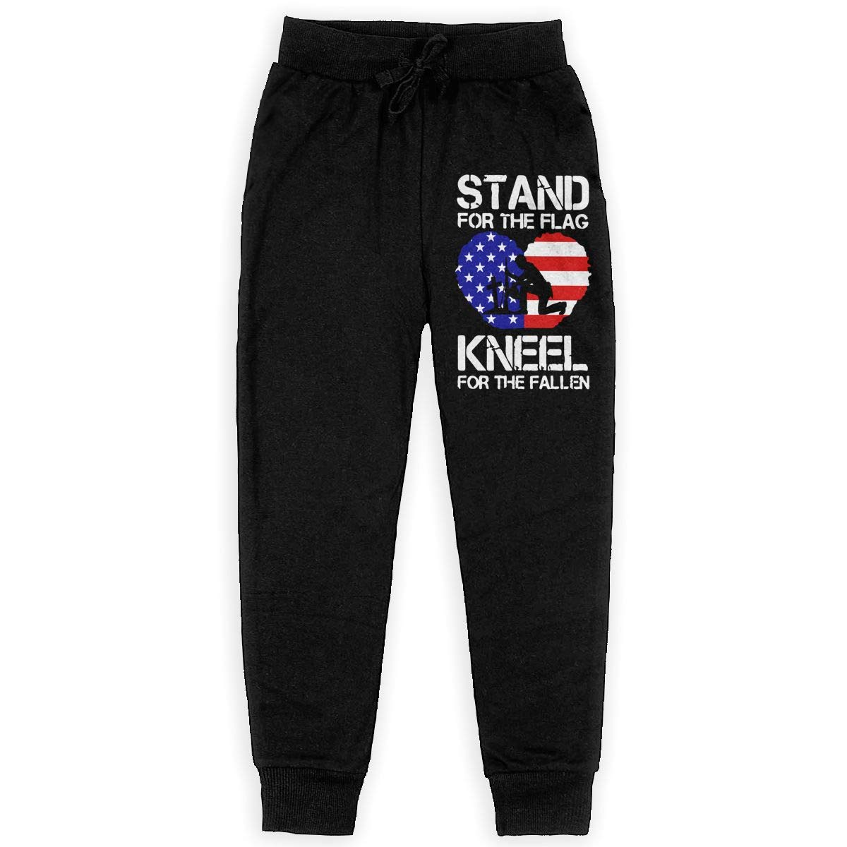 Kneel for The Fallen Soft//Cozy Sweatpants Boys Athletic Pants for Teenager Girls Stand for The Flag