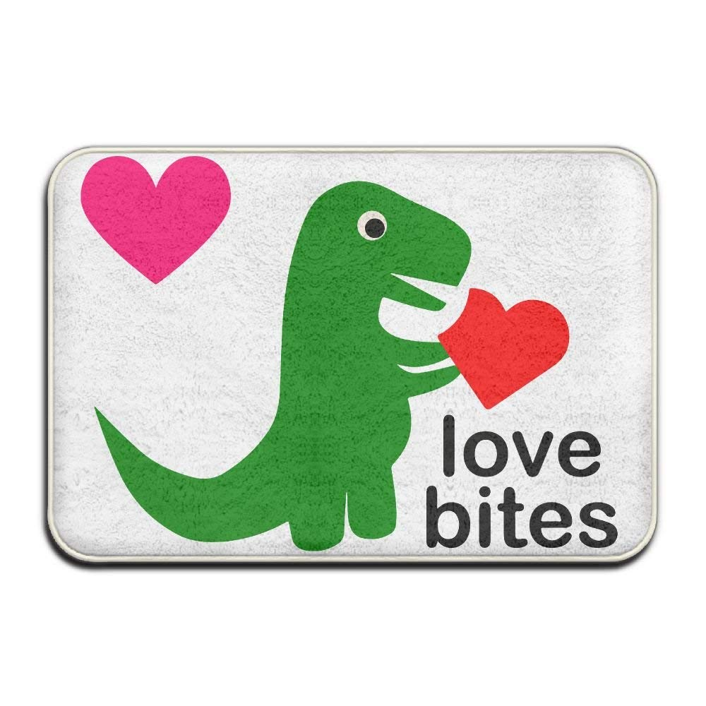Highest Quality Materials Bedroom Rugs Cute Dinosaur Love Heart Bedroom Mat by gcweinges