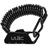 ULAC(ユーラック)ワイヤーロック 自転車 ロック かぎ チェーンロック ベビーカー バイク ダイヤルロック 多機能 軽量 携帯便利 盗難防止 四つ色