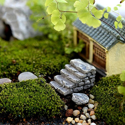 Blue Stones 2 styles steps stairs fairy garden miniatures gnomes moss terrariums resin crafts diy for home decoration accessories ()