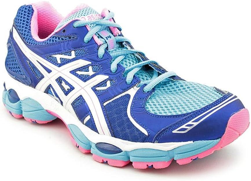 Asics Gel-Nimbus 14 - Zapatillas de Running de sintético para Mujer Light Blue/White/Pink, Color Azul, Talla 41.5: Amazon.es: Zapatos y complementos