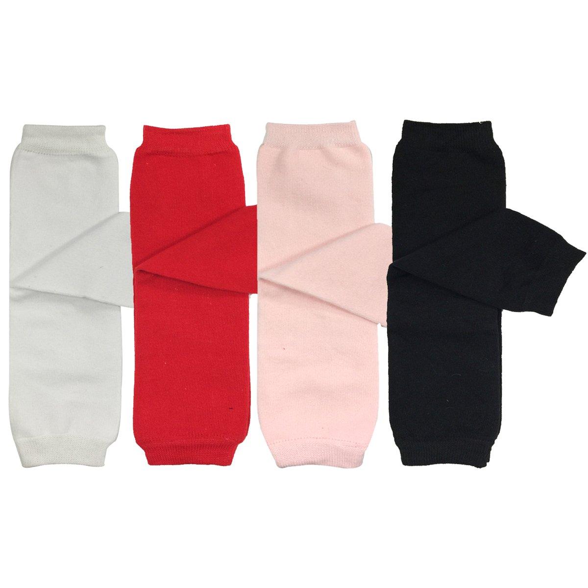 ALLYDREW 4 Pack Baby Leg Warmer Set & Toddler Leg Warmer Set for Boys & Girls Purple Blue Red) P70627