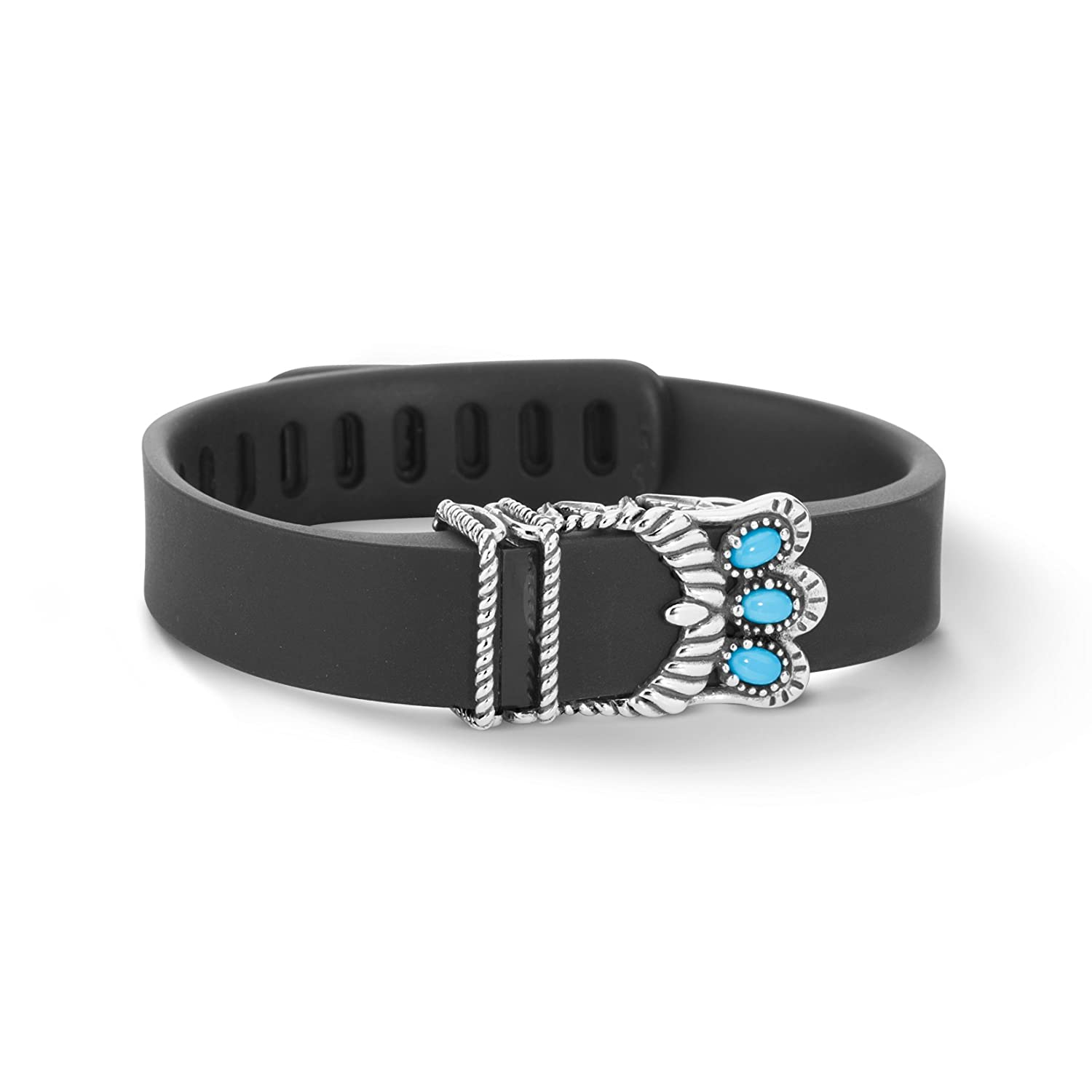 Sterling Silver Sleeping Beauty Turquoise Fitbit (TM) Accessory