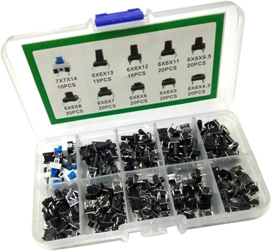 H HILABEE 180 Unids Interruptor de Botón Utilizado en Televisores, Cocinas de Inducción, Ventiladores Eléctricos