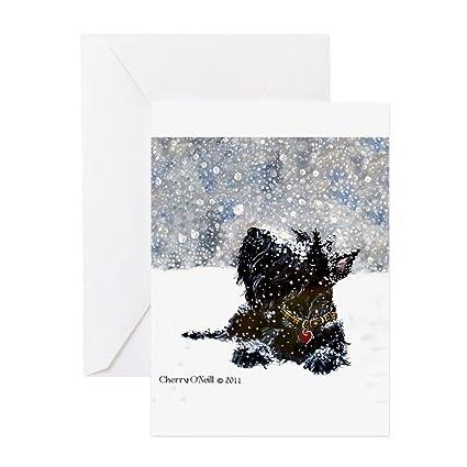 Amazon cafepress scottish terrier christmas greeting cards cafepress scottish terrier christmas greeting cards greeting card 10 pack m4hsunfo