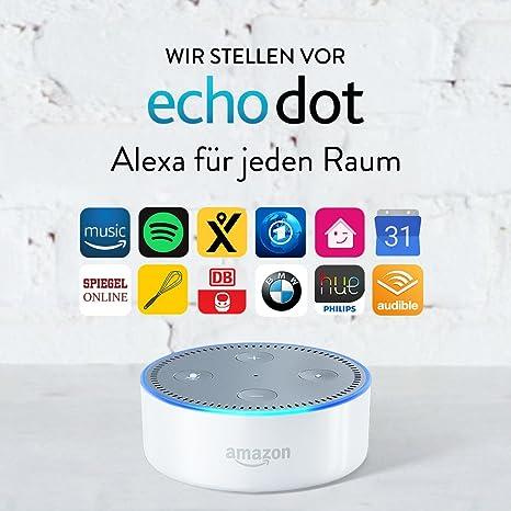 Amazon Echo Dot (Vorherige Generation - 2. Gen.), Zertifiziert und generalüberholt, Weiß