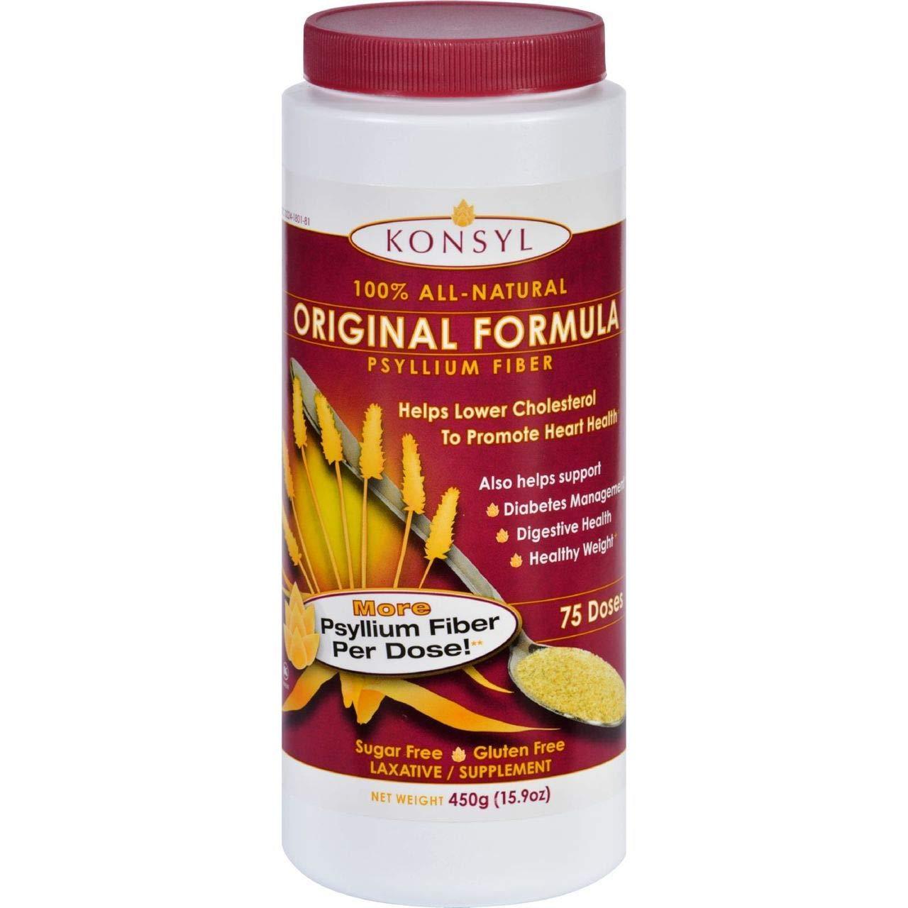 Konsyl Original Formula Psyllium Fiber 15.9 oz (450g) - 6 PACK
