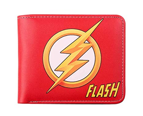 Cartera The Flash Comic Logo Cartera Doble para Hombre ID De ...