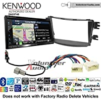 Volunteer Audio Kenwood DNX574S Double Din Radio Install Kit with GPS Navigation Apple CarPlay Android Auto Fits 2012-2013 Hyundai Accent