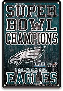 YOMIA Garage Decorations for Men - Football Team Decoration for Philadelphia Eagles Sign 8 X 12 Inches