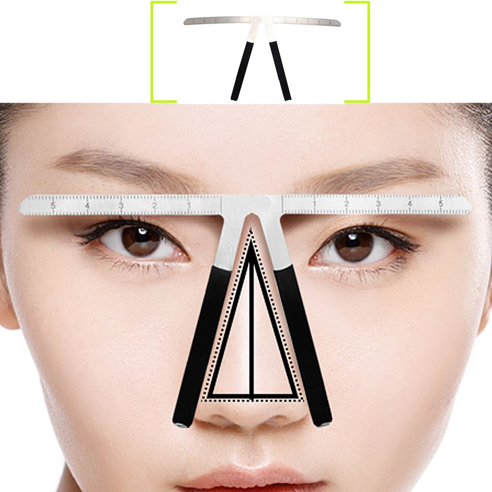 AORAEM Eyebrow Ruler Grooming Makeup Stencil Shaper Three-Point Positioning Measure Symmetrical Tool M156
