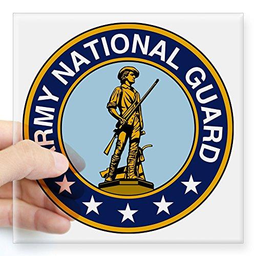 (CafePress Army National Guard Seal Sticker Square Bumper Sticker Car Decal, 3