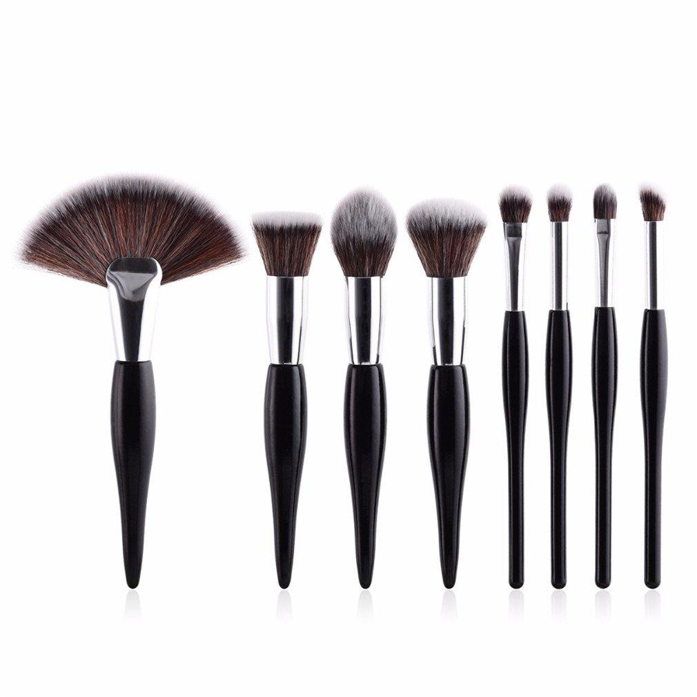 e749f1455c04 Amazon.com: 8 Pcs/Set Makeup Brush Kit Soft Synthetic Head Wood ...