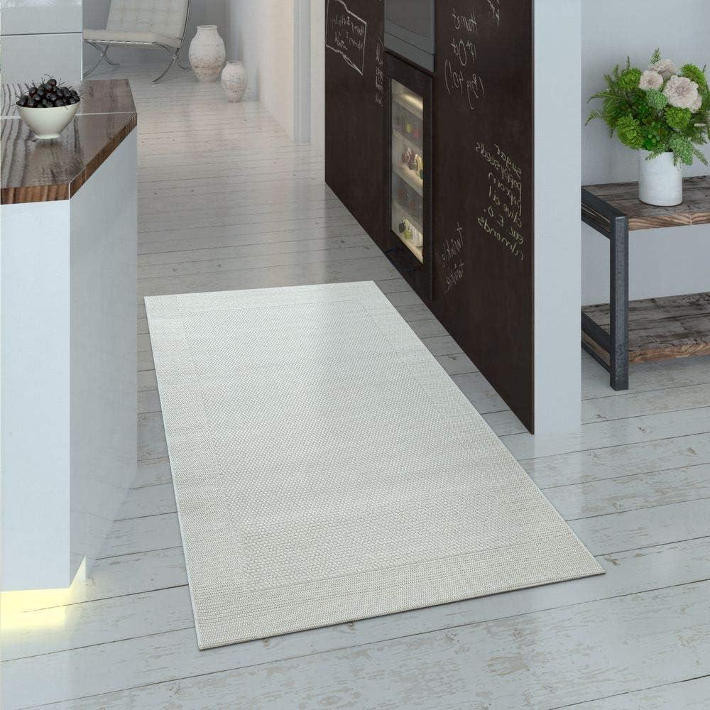 Couleur:Anthracite Paco Home Tapis Int/érieur Ext/érieur Terrasse Balcon Uni Structure Dimension:80x150 cm