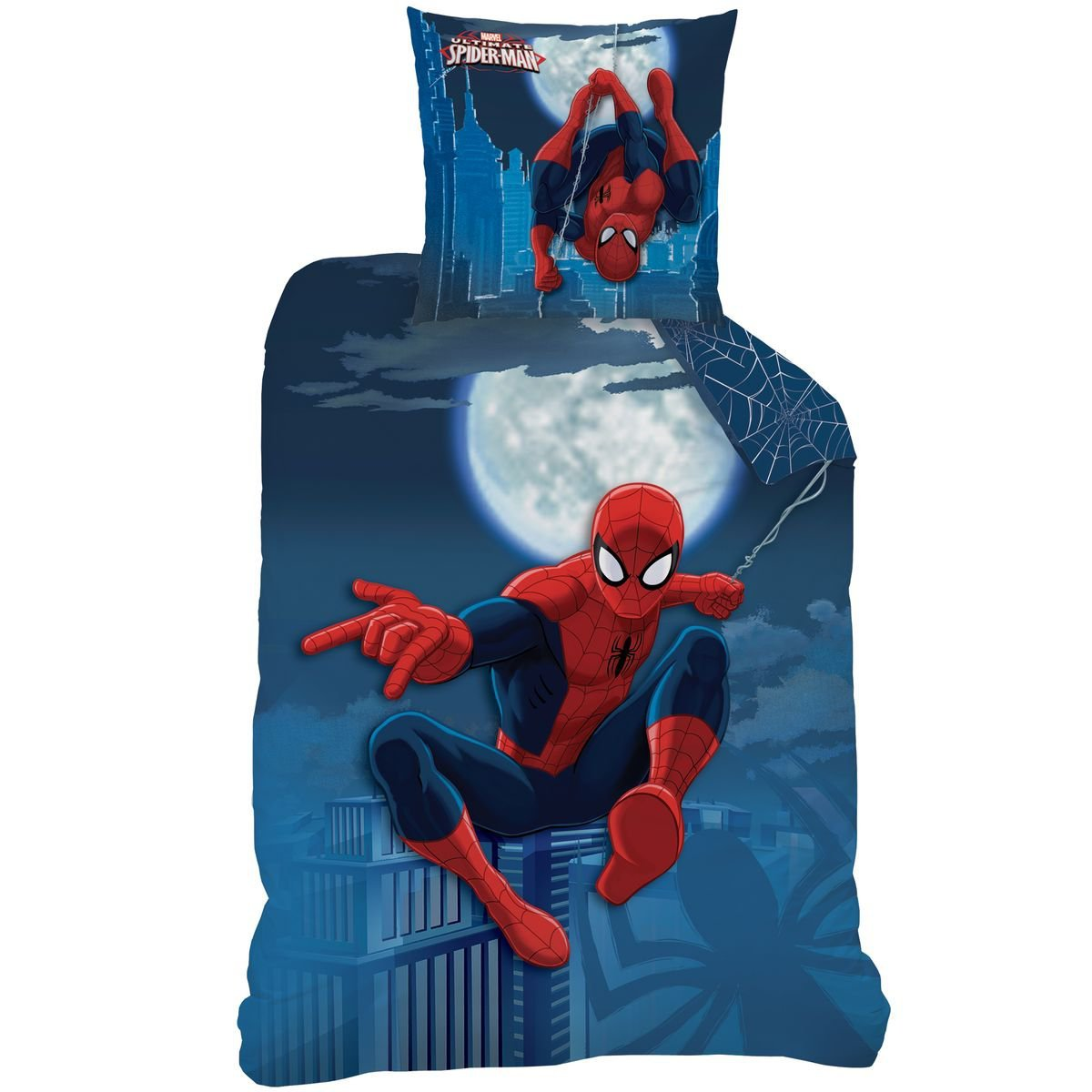 Spider-Man - Duvet Cover (140x200) + Pillow Case (63x63) - Bedding set MOONLIGHT CTI