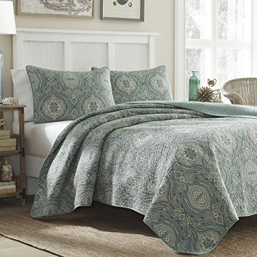 Tommy Bahama Turtle Cove Quilt Set, Green, King (Tommy Sets Bedding)