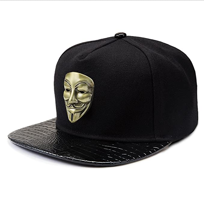 f238e927c17 Baseball Cap for Men Black Hip-hop Style Flat Brim Baseball Cap Women Sun  Hat