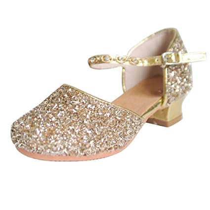 d11849659fc8b Amazon.com: Toponly Glitter Heeled Sandals Child Girls Casual Comfy ...