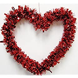 Valentine's Red Heart Garland 12""