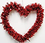 Valentines Red Heart Garland 12""