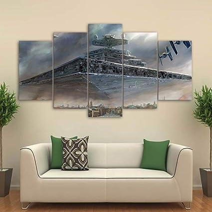 XLST HD 5 Stück Leinwand Kunst gedruckt Star Wars Malerei Wohnzimmer ...