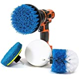Power Drill Scrubber Brush Cleaning Kit - All Purpose Drill Brush for Bathroom Surfaces, Grout, Floor, Tub, Shower, Tile, Corners and Kitchen - Medium (blue-5pieces)