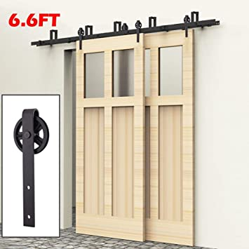 Amazon Com Artist Hand 6 6ft Bypass Sliding Barn Door Hardware Kit