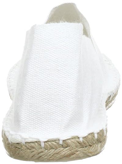 Amazon.com | [espadrij] loriginale Womens Classic Cotton Espadrilles Blanc Size EU 41 - US 9.5 | Loafers & Slip-Ons