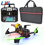 LHI Full Carbon Fiber 250 mm Quadcopter Race Copter Racing Drone Frame Kit RTF + CC3D Flight Controller + MT2204 2300KV Brushless Motor + Simonk 12A ESC Brushless Speed Controller + 5030 Propeller+ FlySky FS-I6 for FPV (Assembled)