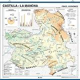 Mapa en relieve de Castilla La Mancha: Escala 1:400.000: Amazon.es ...