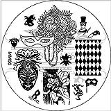 MESSY MANSION MM66 Nail Art Stamping Plate - Mardi Gras