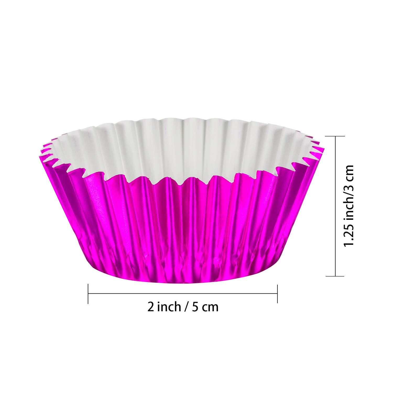 Sumind 10 Colors Paper Baking Cups Foil Cupcake Liners Muffin Case Decoration Cups (400 Pieces) by Sumind (Image #2)