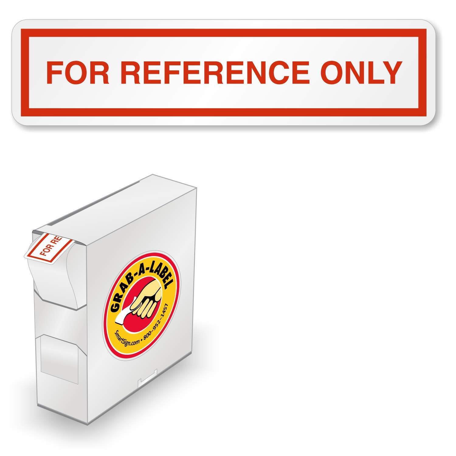 2 x 0.5 Pack of 160 SmartSign/for Reference Only Write-On Vinyl Removable Label
