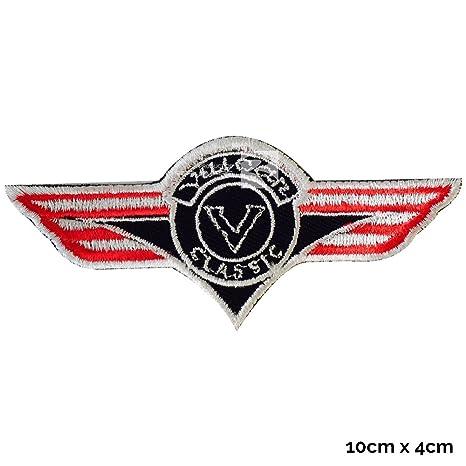 Real Empire Kawasaki Vulcan Classic - Chaqueta de parche bordada para coser o planchar