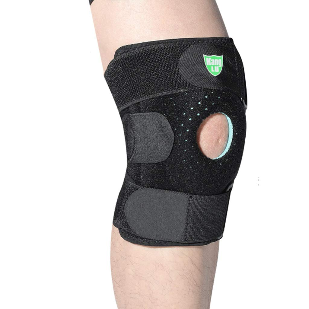Kneepad Knee Support Running Fitness Dance Skipping Badminton Climbing Meniscus Injury Knee Pads (Color : A Black, Size : L)