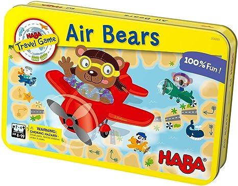 HABA Air Bears – un Juego de Viaje magnético Compacto para 2 – 4 ...
