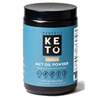 Perfect Keto MCT Oil C8 Powder, Coconut Medium Chain Triglycerides for Pure Clean...