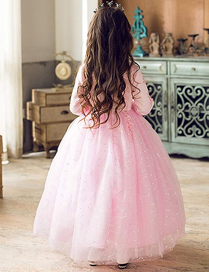 Amazon.com: Zhhlinyuan - Vestido de encaje para niñas de 3 a ...