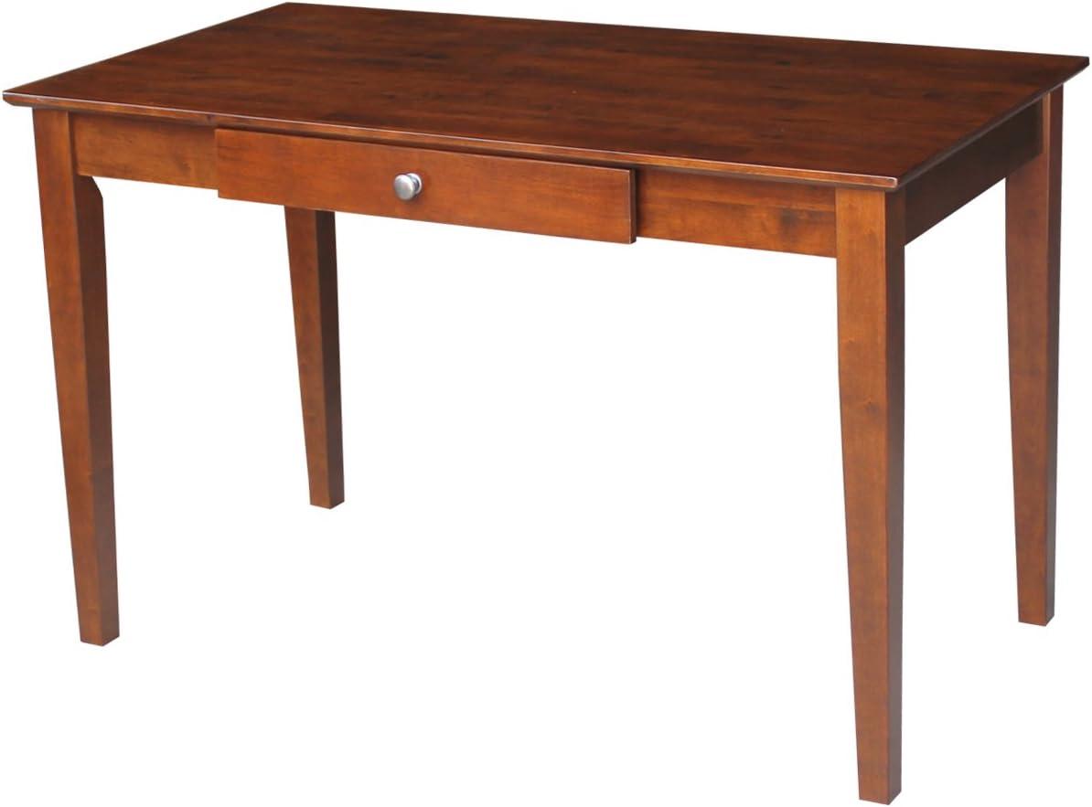 International Concepts Basic Desk with Drawer, Espresso Finish