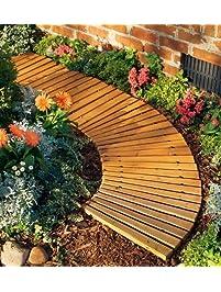 4u0027L X 18u0027u0027W Portable Roll Out Wooden Curved Pathway