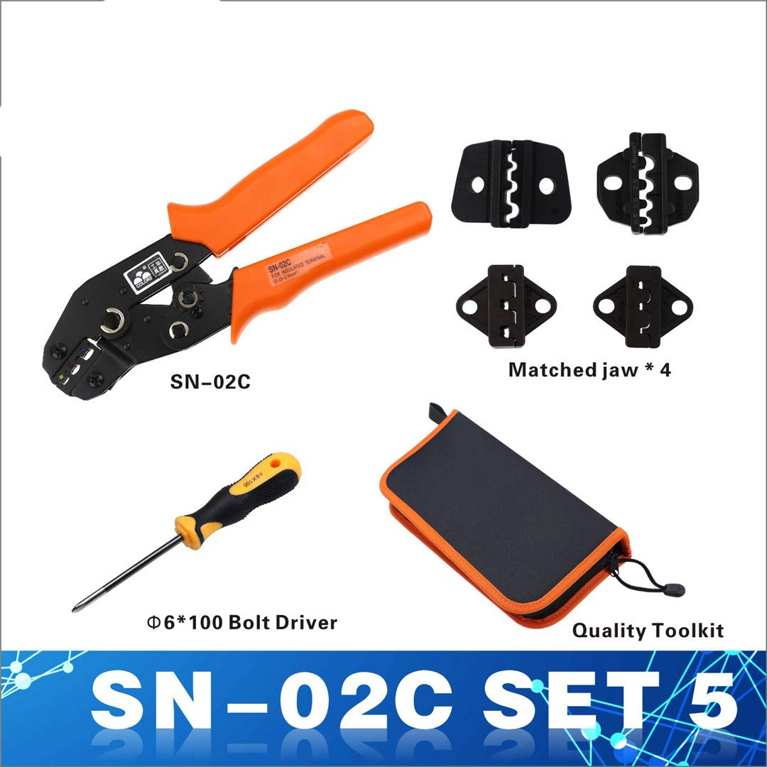 Crimping Tool Sn-2549 Stripper Crimper Pliers Wire Cable Tools Cutter Crimp Cutters Sn 2549 Pliers SN-02C Set