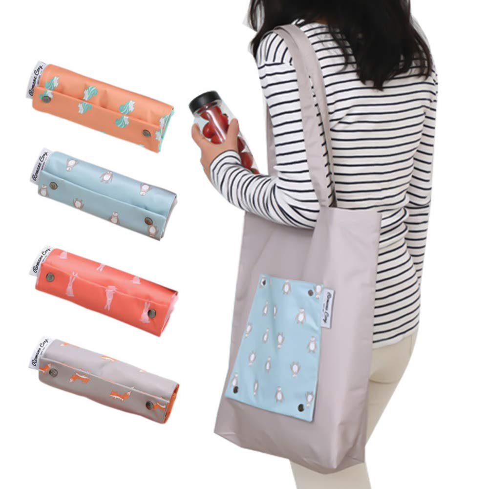 Queta pieghevole impermeabile grande capacità viaggio Recycle bag Grocery shopping bag borsetta borsa da spiaggia, eco-friendly Ripstop Nylon Oxford colore casuale