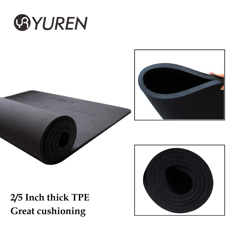 Amazon.com: Yuren esterilla de yoga grosor 10 mm. colchoneta ...