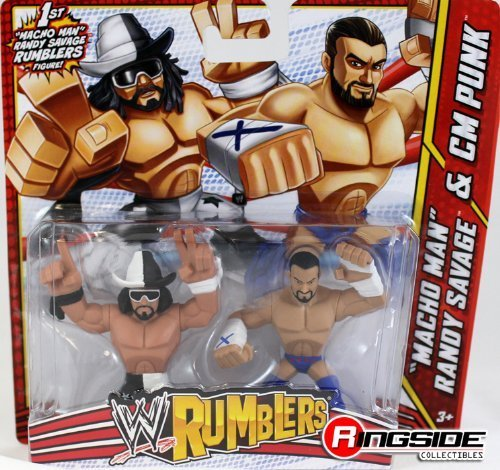 MACHO MAN RANDY SAVAGE & CM PUNK - WWE RUMBLERS TOY WRESTLING ACTION FIGURES [Toys & Games] Holiday Toy by MATTEL